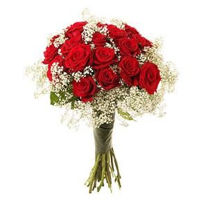 Bouquet de Rosas Encarnadas com Branco