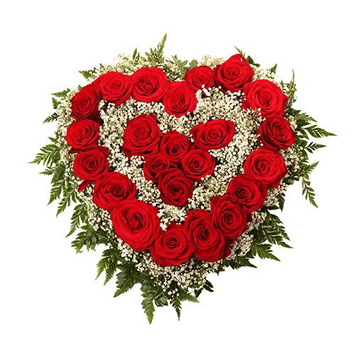Corações de rosas